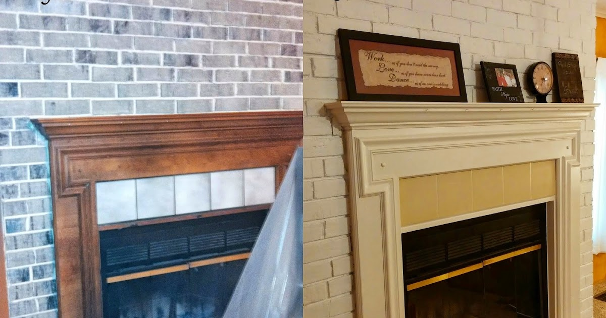 Coastal Mom Creations: Fireplace Makeover (with only paint!)
