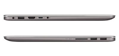 ASUS ZenBook UX410UQ tampak samping