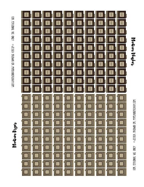 Free Printable Medium Icon Washer & Dryer on myplannerenvy.com