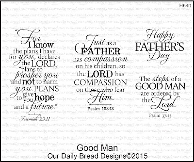 Our Daily Bread Designs Stamp set: Good Man