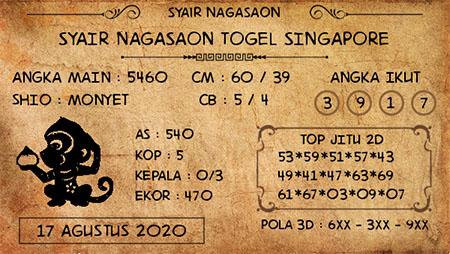 Nagasaon SGP Senin 17 Agustus 2020