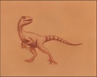 Deinonychus,Velociraptor,dino,dinosaur,paleontology,paleoart,drawing,art