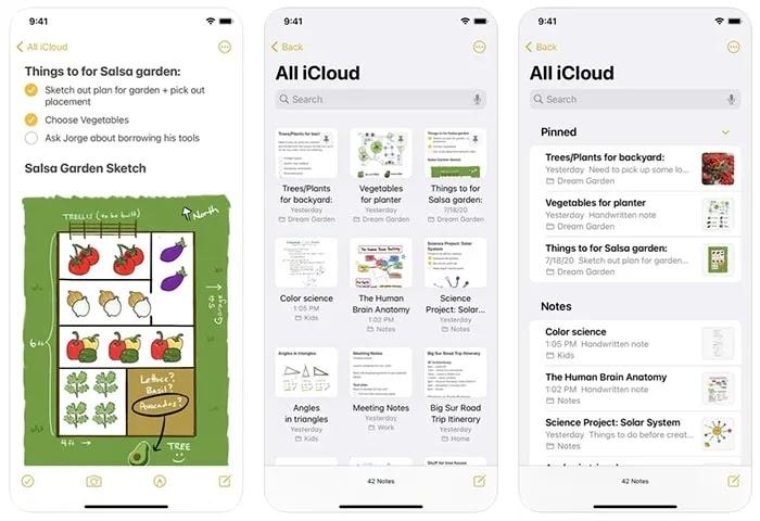 ملاحظة أخذ تطبيقات Ios Apple Notes