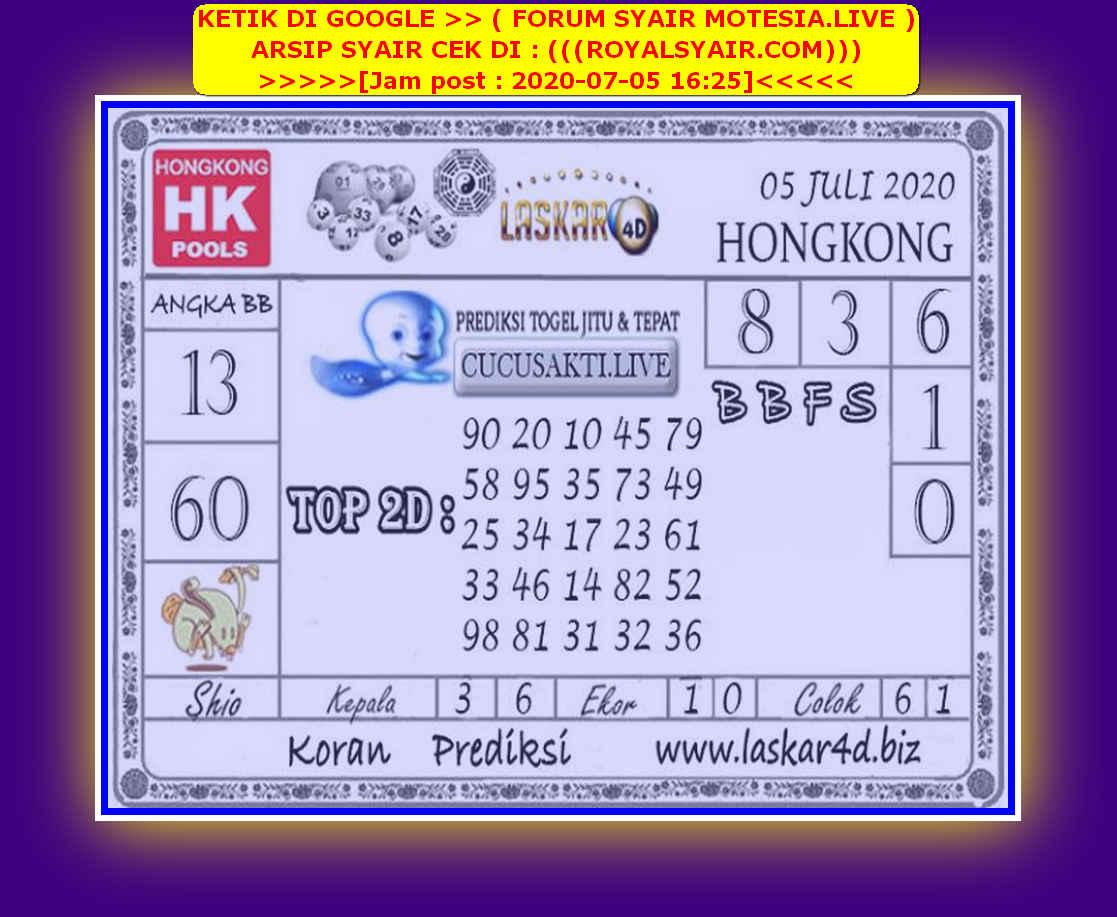 Kode syair Hongkong Minggu 5 Juli 2020 203