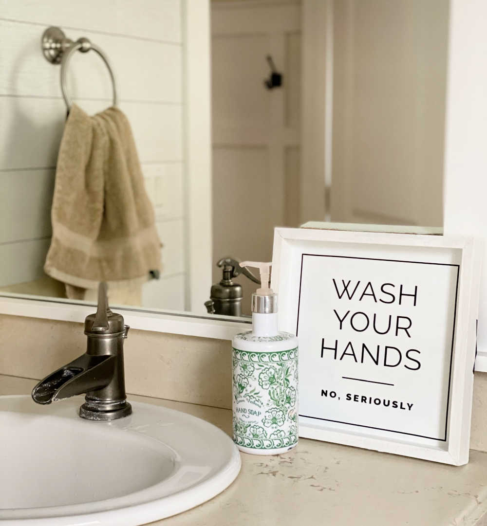 wash your hands cricut sign