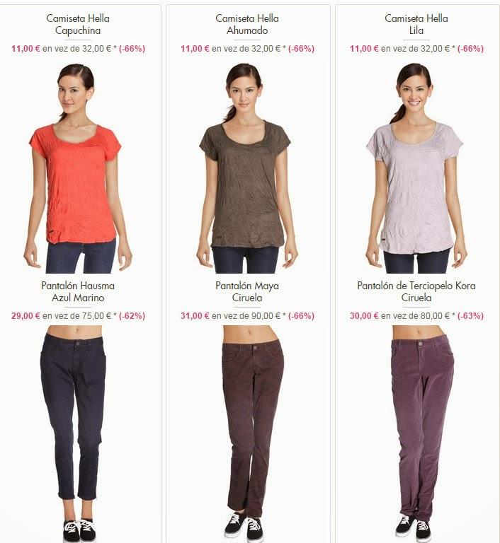 camisetas y pantalones mujer