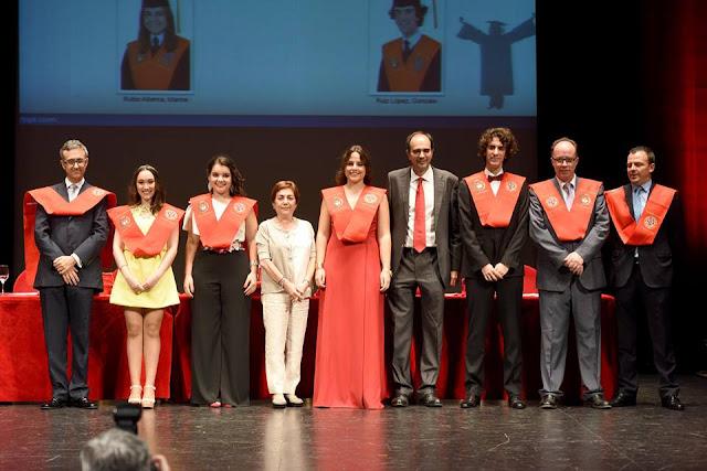 Acto de graduación de los estudiantes de la Facultad de Derecho.