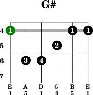 Chord Gitar G#