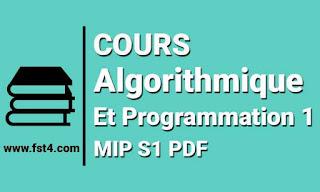 Cours Algorithmique et Programmation 1 mip s1 pdf