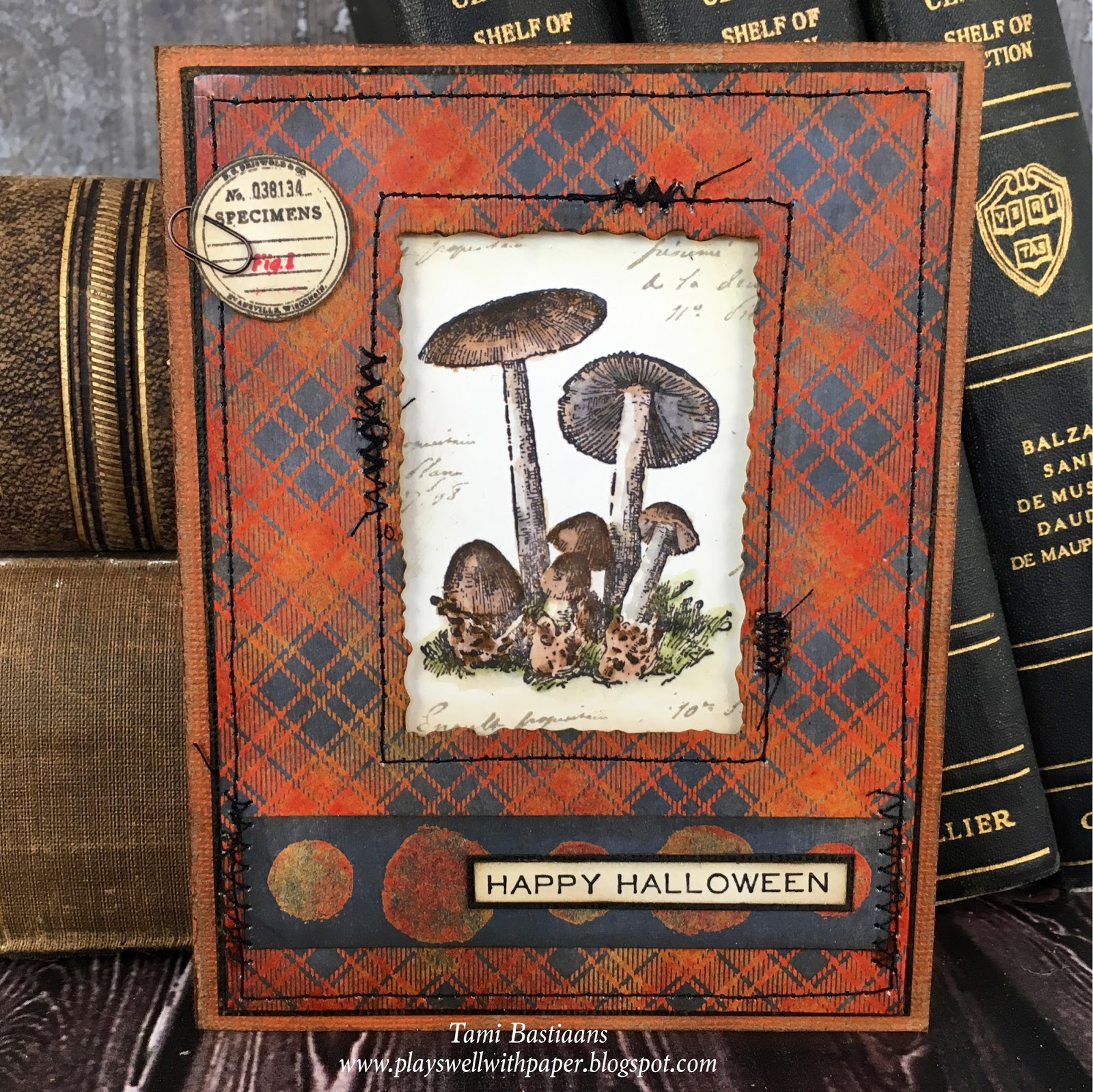 Stampers Anonymous Tim Holtz Perfect Plaid Cling Stamp Set