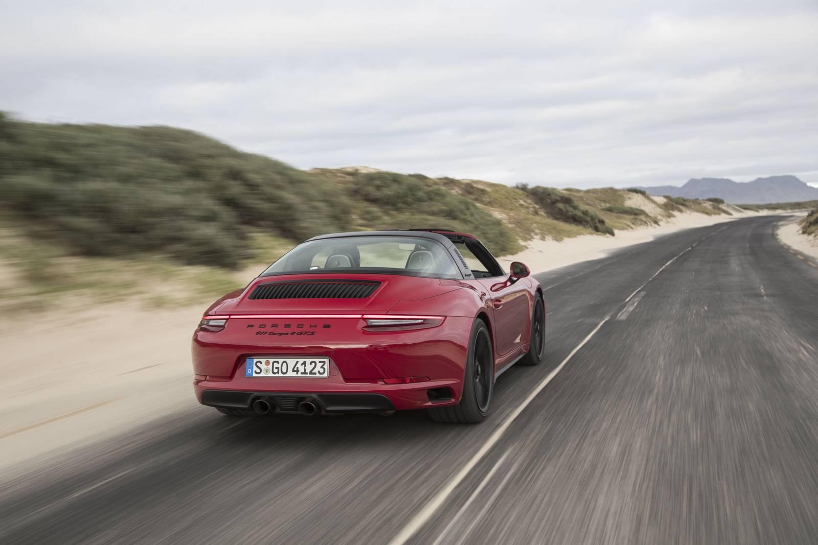 Tył Porsche 911 Targa 4 GTS