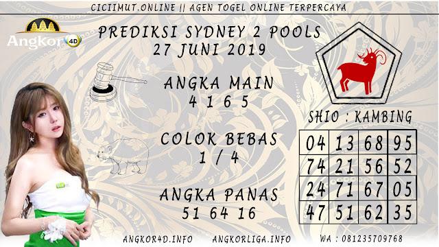 PREDIKSI SYDNEY 2 POOLS 27 JUNI 2019