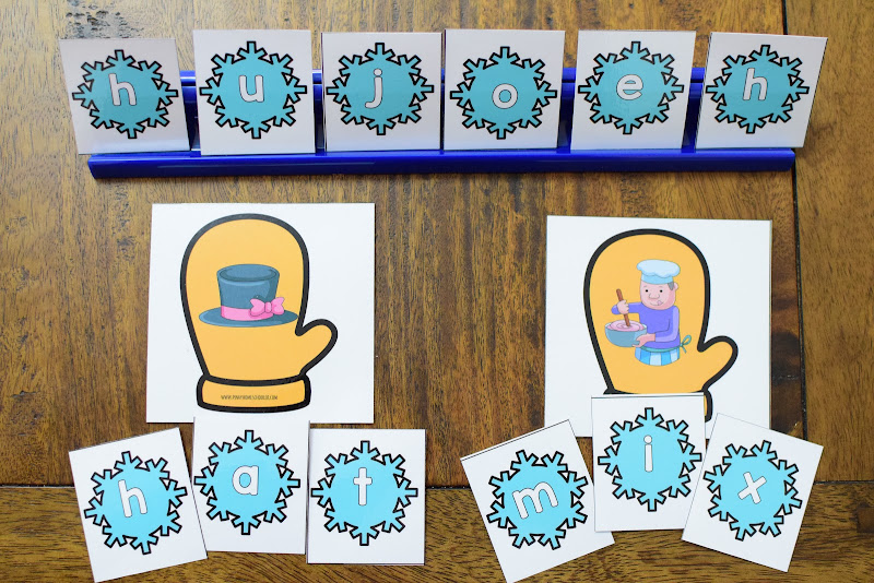 Forming CVC Words with Picture Cards and Letter Cards