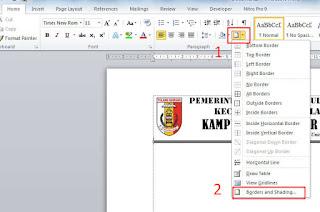 Cara Membuat Garis Bawah Pada Kop Surat Di Ms Word