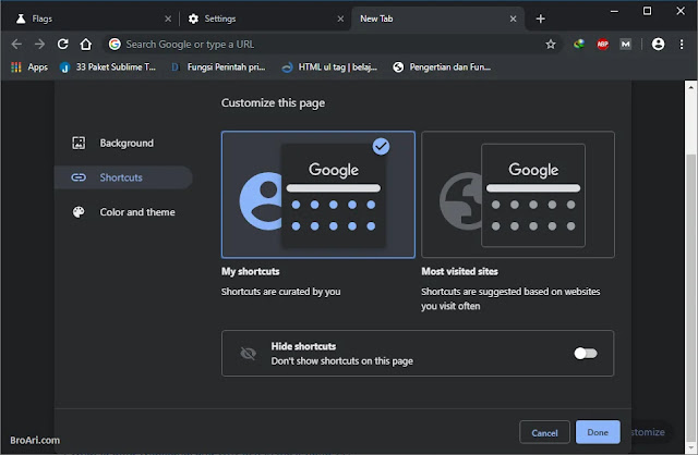 Membuat Theme Google Chrome Sendiri