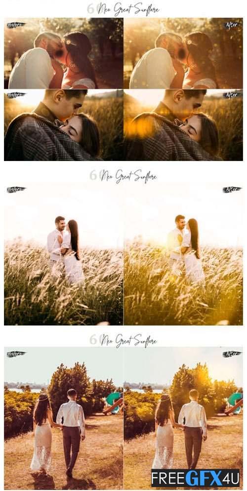 60 Neo Great SunFlare Photoshop Overlays
