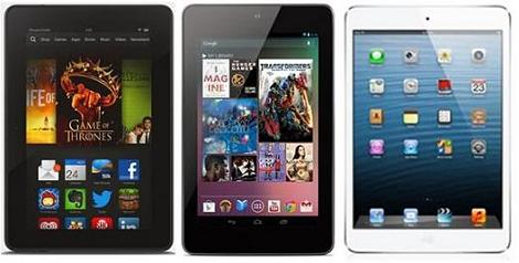 Kindle Fire HDX Vs Nexus 7 Vs iPad Mini (New)