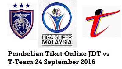 beli Tiket Online JDT vs T-Team 24 September 2016