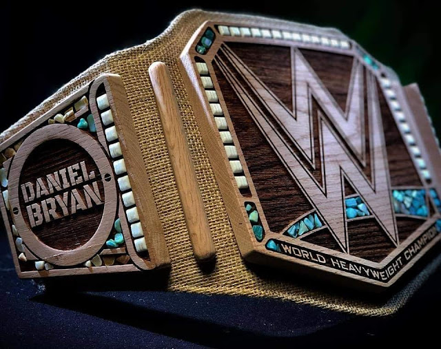 """The New"" Daniel Bryan eco-friendly oak wood and hemp WWE Championship title belt. StrengthFighter.com"