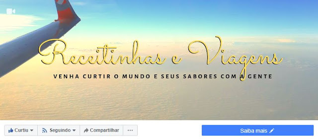 Perfil Facebook do blog Receitinhas e Viagens