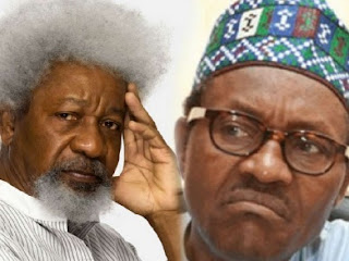 Buhari In Closed Door Meeting With Soyinka At Aso Rock
