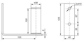 Comprar soportes de antena pared galvanizado