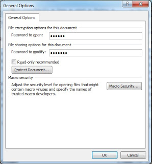 How to protect Ms Word file with password