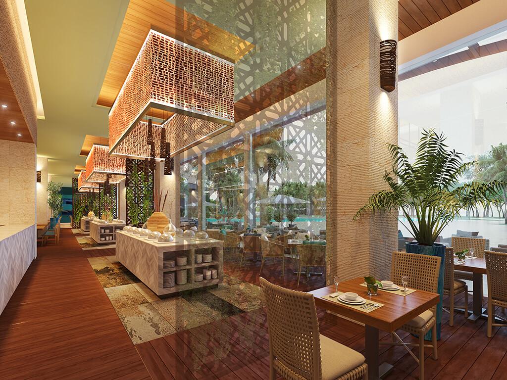 Dãy nhà hàng sang trọng tại Phú Quốc Condotel Sonasea