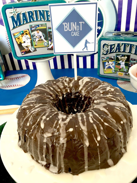 Baseball Party foods- Bundt Cake