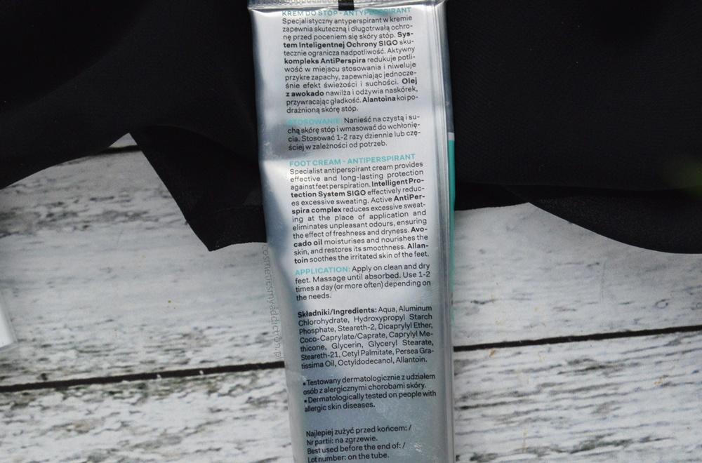 Krem do stóp - antyperspirant przeciw nadmiernej potliwości stóp - Aquaselin