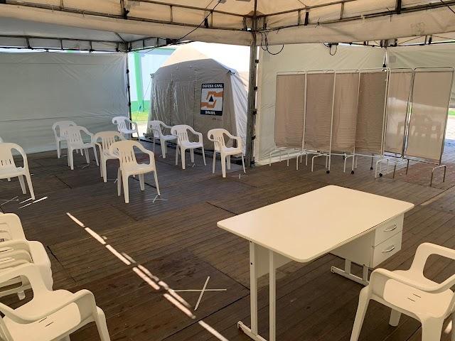 Hospital de Campanha em Itapema