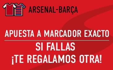 sportium bono 50 euros devolucion champions Arsenal vs Barcelona 23 febrero
