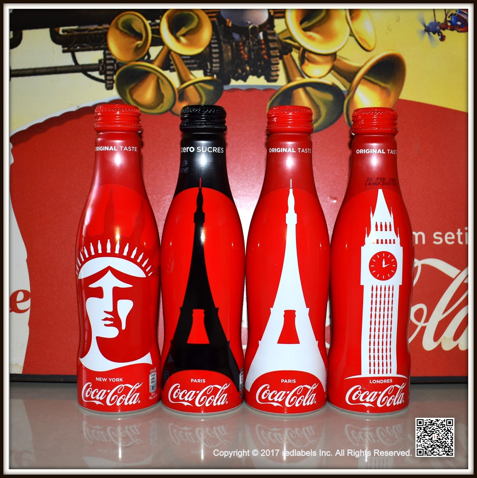 aluminum bottle collector club coca cola cities edition aluminum bottle france 2017. Black Bedroom Furniture Sets. Home Design Ideas