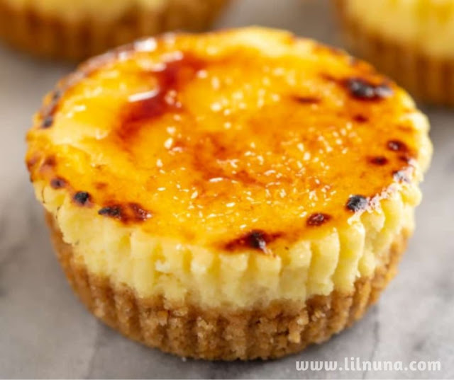 Creme Brulee Cheesecake Cupcakes