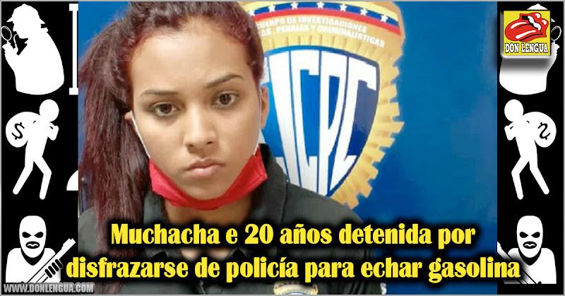 Muchacha e 20 años detenida por disfrazarse de policía para echar gasolina