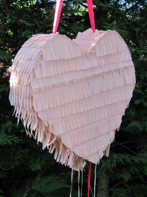Presentación Piñata corazon shabby chic