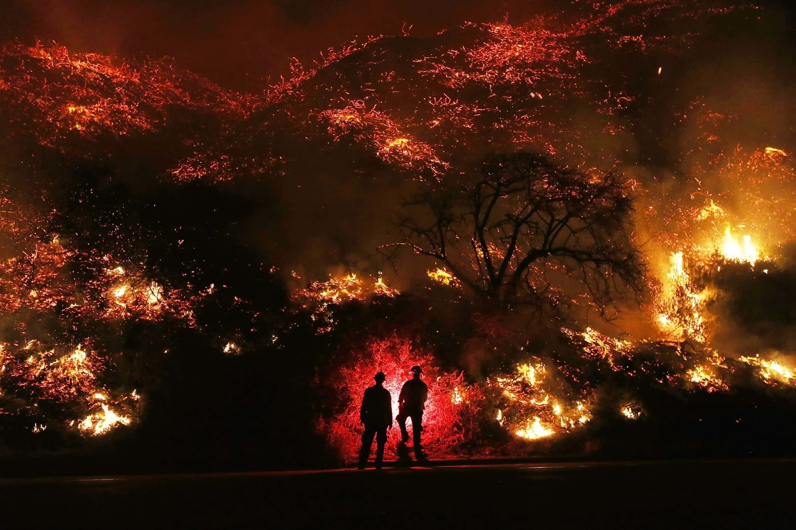 25 Of The Most Intriguing Pictures Of 2017 - Southern California wildfires