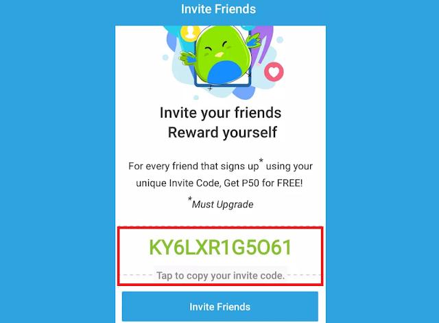 paymaya invite code