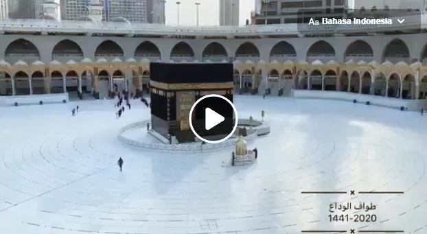 Pemandangan Menakjubkan dari Tawaf Perpisahan Haji 2020
