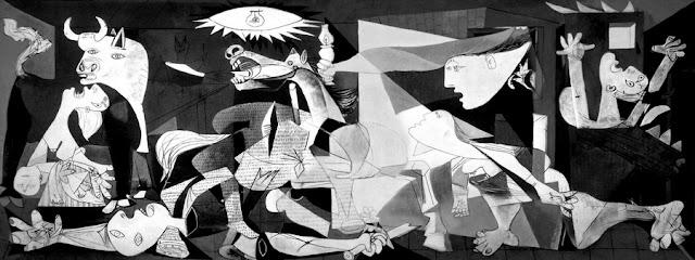 """""""Guernica"""", de Pablo Picasso, em exposição no Centro de Artes Reina Sofia, Madri"""
