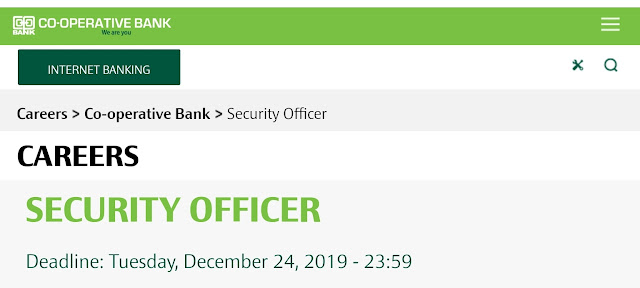 Security Officer Job at Co-opbank