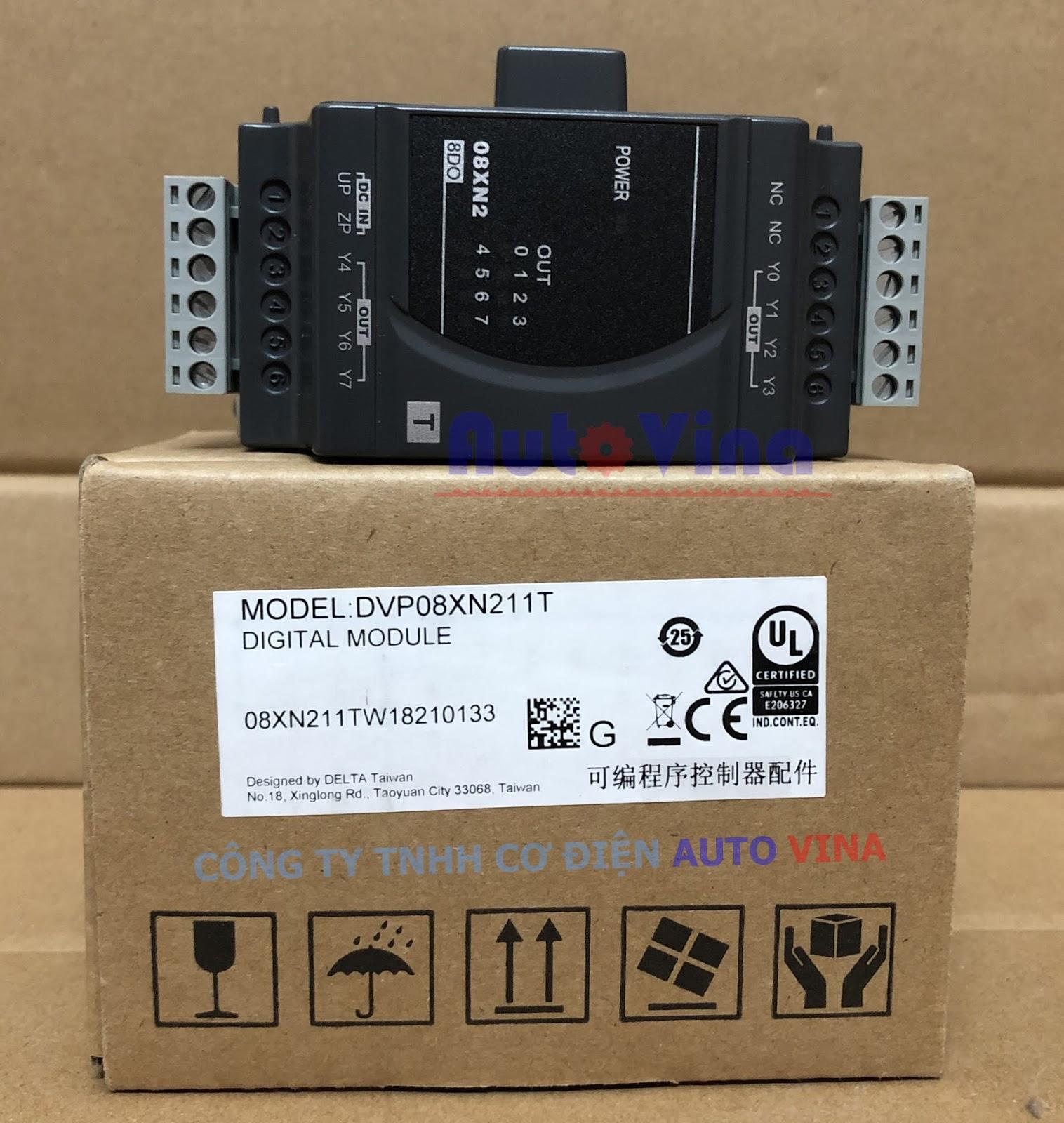 Đại lý bán module mở rộng ngõ ra PLC Delta DVP08XN211T 8 ngõ ra Transistor