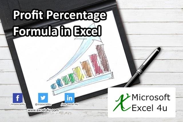 Profit Percentage Formula in Excel