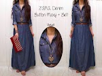 GC1700 Zara Denim Maxi + Belt SOLD OUT