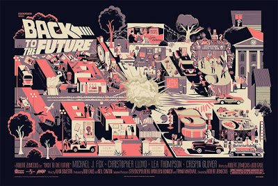 Back to the Future Screen Print by Adam Simpson x Mondo