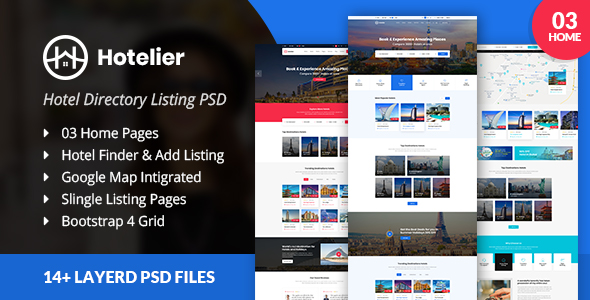 Directory Listing PSD Template