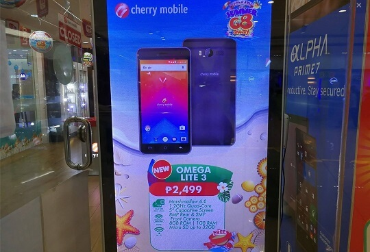 Cherry Mobile Omega Lite 3 Spotted for Php2,499