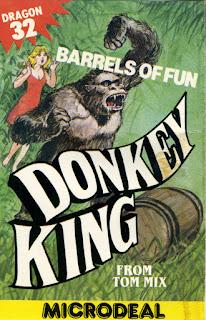 Arte gráfico de Donkey King para Dragon 32/64 de 1983