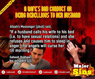 65. A WIFE'S BAD CONDUCT OR BEING REBELLIOUS TO HER HUSBAND