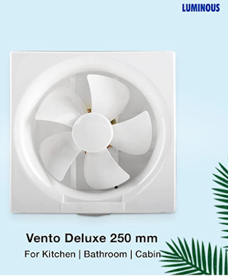 Luminous Vento Deluxe Exhaust Fan for Healthy Work Environment in Kitchen, Bathroom and Office